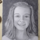 A Speed Drawing using Powder Blender to Finish a Graphite Pencil Portrait