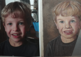 Jonnys Portrait - Polychromos Pencils and Powder Blender