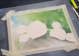 Muh Rose 2 - polychromos, powder blender, titanium white, UArt sanded paper
