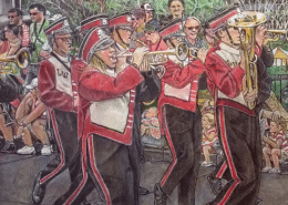 Powder Blender Colored Pencil Speed Drawing - Lutheran West High School Marching Band