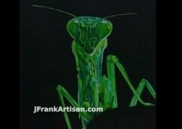 Praying Mantis in Colored Pencil with Powder Blender