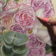 Tips for drawing flowers in Colored Pencil & blending with Powder Blender - Lachri
